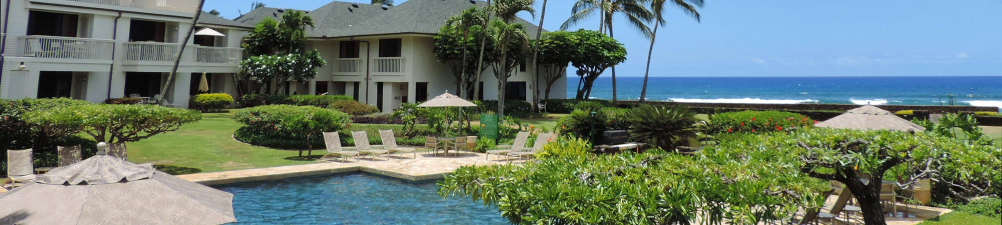 large saltwater pool at Poipu Kapili Resort